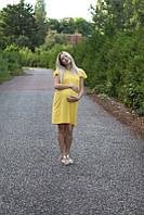 Платье летнее с рукавом Бабочка для беременных и кормящих мам HIGH HEELS MOM (желтый, размер S/M), фото 1
