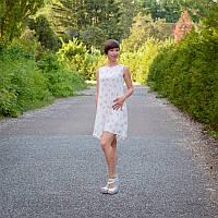 Платье Мороженое без рукава для беременных и кормящих мам HIGH HEELS MOM (белый, размер S/M), фото 1