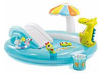 Детский надувной игровой центр Intex Аллигатор 203x173x189 см  (57129)
