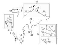 Штуцер / удлинитель шланга омывателя переднего стекла Nissan Leaf ZE0 / AZE0 (10-17) 28937-AR000