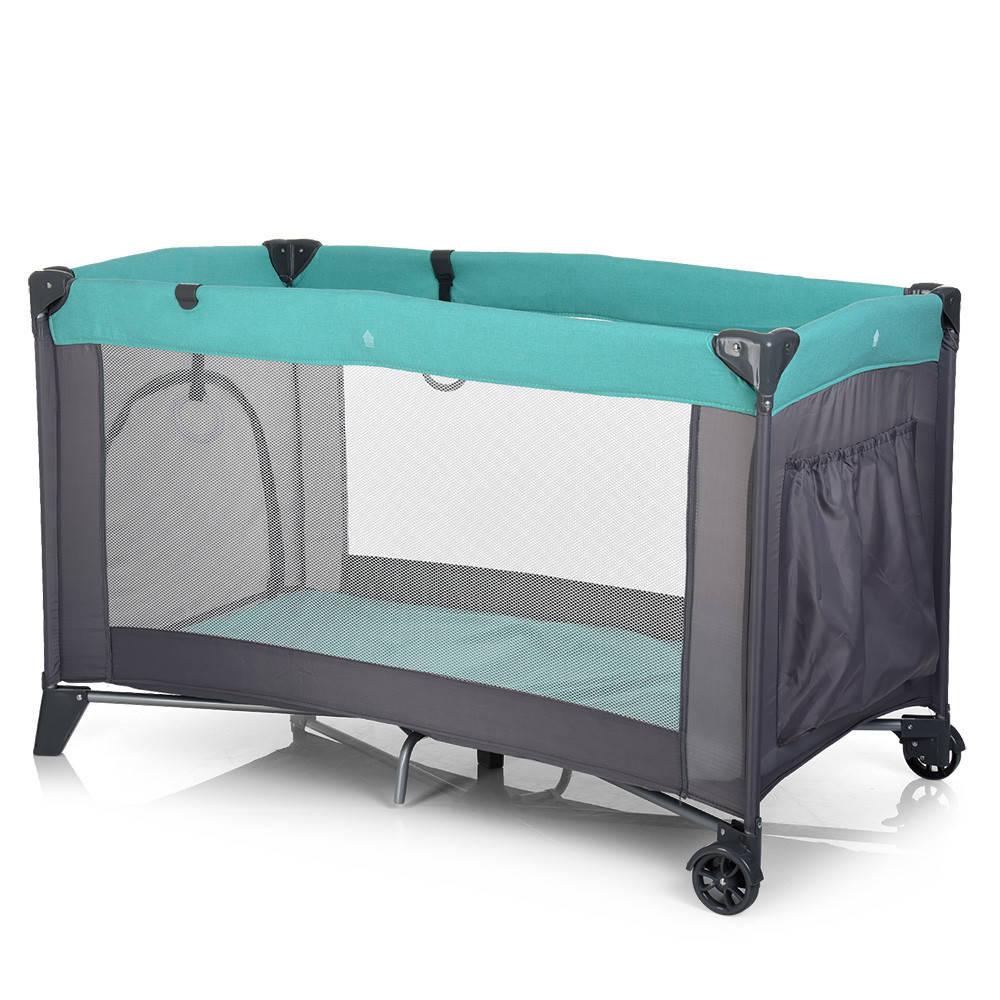 Манеж детский EL CAMINO ME 1016-5-11 SAFE бирюзово-серый ***