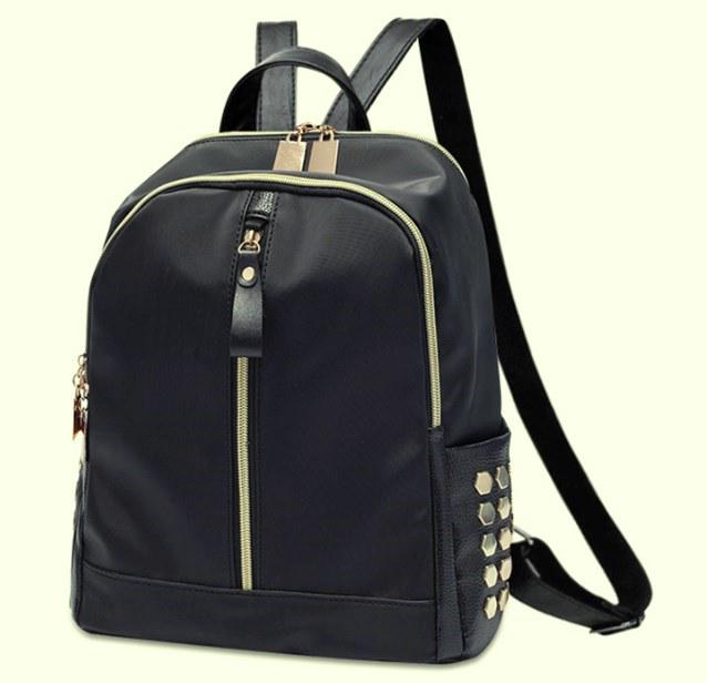 Модный городской рюкзак для девушек черный