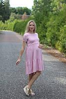 Платье с воланами и поясом для беременных и кормящих мам HIGH HEELS MOM (розовый, размер S)