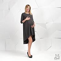 Платье для беременных и кормящих HIGH HEELS MOM свободное серое, фото 1