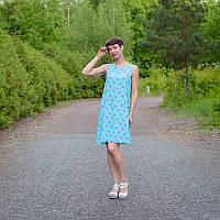 Платье Фламинго для беременных и кормящих мам HIGH HEELS MOM (голубой, размер S/M), фото 1