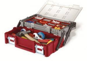 Ящик для инструментов 18 «кантилевер», 12 органайзеров