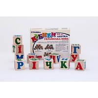 Кубики украинский алфавит 12 кубиков, Комаровтойс