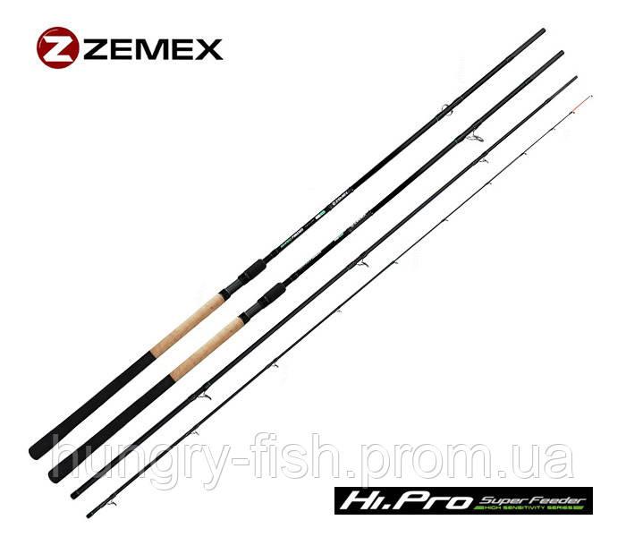 Фідерне вудилище zemex hi-pro super feeder 13 ft - 110 g
