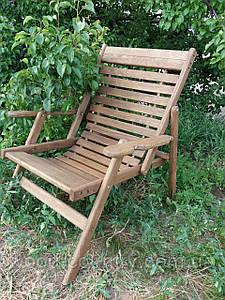 Анатомическое кресло из дуба (массив) крашенное