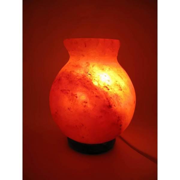 """Соляная лампа (SL-32) """"Ваза"""" 2,1кг. (d-12,h-17 см)(8 шт ящ.)(Гималайская соль)"""