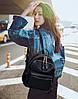 Стильный портфель для девочек черный, фото 6