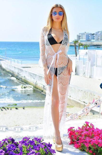 Кружевная пляжная туника