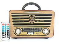 Ретро Радиоприёмник MR-115BT с пультом ДУ (Bluetooth/USB/Аккумулятор)