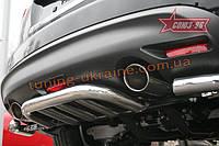 Защита заднего бампера d 60 малая Союз 96 на Infiniti FX35/FX50 2008