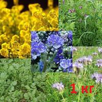 Семена сидератов, медоносов и кормовых трав фасовка 1 кг.