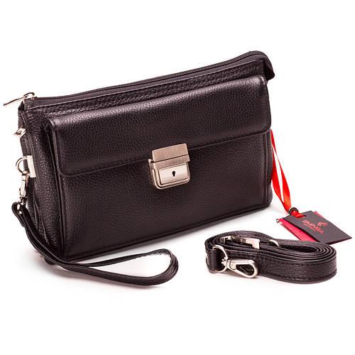 Мужская барсетка кожаная черная Eminsa 5077-12-1  продажа 9d455c050e58a