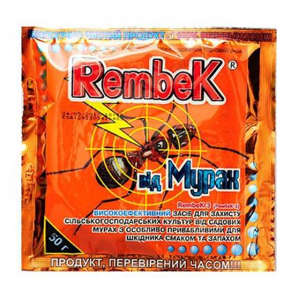 Инсектицид Рембек Мураха, 50 г — готовые гранулы для борьбы со всеми видами муравьев в помещении и на грунте, фото 2