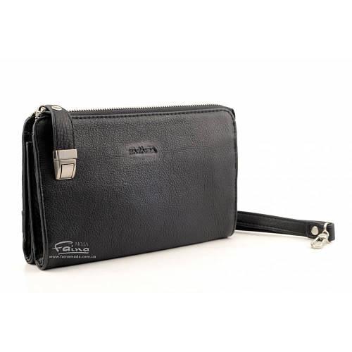 Мужской клатч кожаный чёрный Eminsa 5091-18-1  продажа 40260dd35508f