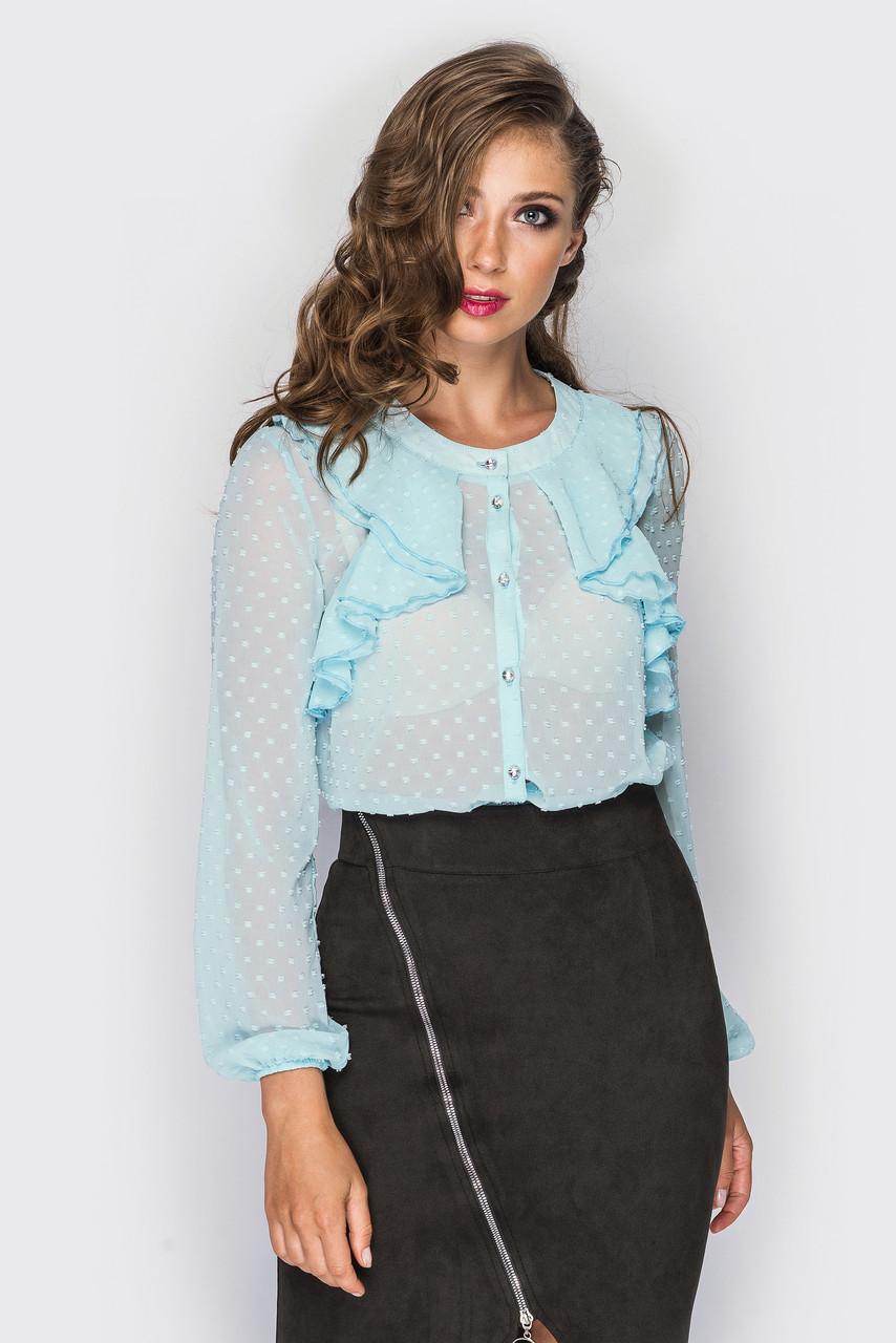 Блуза шифоновая с воланами «Алла»