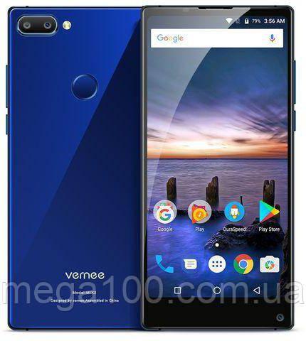 Смартфон Vernee Mix 2 синий (экран 6 дюймов, памяти 4GB RAM/64GB ROM, акб 4200 мАч)