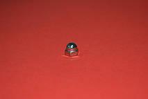 Гайка М12 DIN 1587 колпачковая, с мелким шагом резьбы, ГОСТ 11860-85, класс прочности 6.0