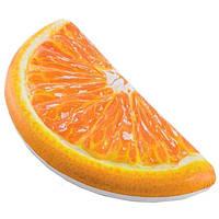 Надувной плотик долька апельсина Intex 58763: размер 178х85см