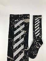 Носки-Гольфы высокие Off-White серые