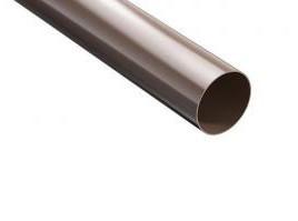 Труба водостічна ProAqua Д=90 мм, 3000 мм, колір коричневий