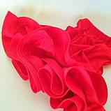 Бейсик рейтинговое платье на 7-8 лет красное  (съёмная юбка), фото 5