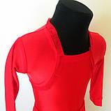 Бейсик рейтинговое платье на 7-8 лет красное  (съёмная юбка), фото 3