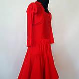 Бейсик рейтинговое платье на 7-8 лет красное  (съёмная юбка), фото 2