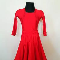 Бейсик рейтинговое платье на 7-8 лет красное  (съёмная юбка)