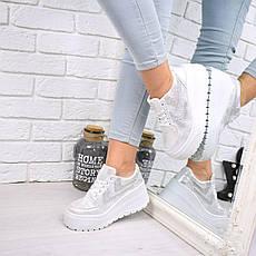 """Кроссовки, кеды, мокасины на платформе """"Dabora"""" белые, эко замша, повседневная, спортивная, удобная обувь, фото 2"""