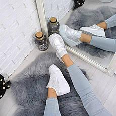 """Кроссовки, кеды, мокасины на платформе """"Dabora"""" белые, эко замша, повседневная, спортивная, удобная обувь, фото 3"""