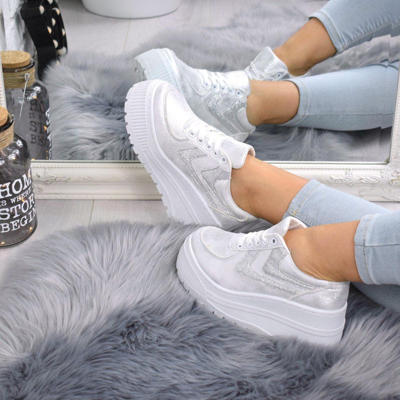 """Кроссовки, кеды, мокасины на платформе """"Dabora"""" белые, эко замша, повседневная, спортивная, удобная обувь"""