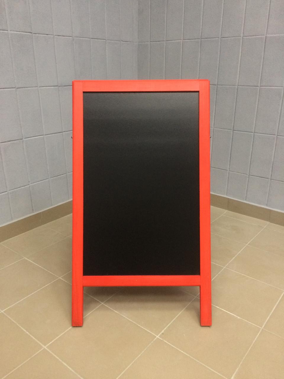 Штендер А - образный меловой, красный, двухсторонний
