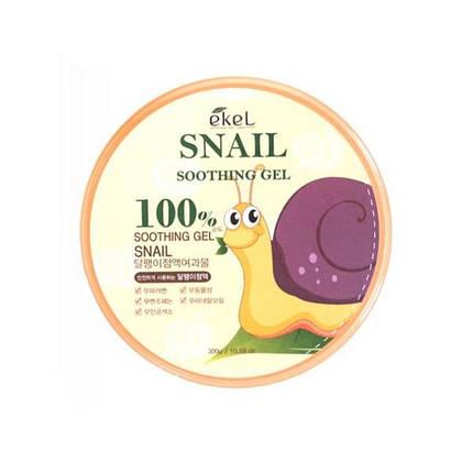 Универсальный гель с улиточным экстрактом EKEL Snail Soothing Gel 100%, 300 мл, фото 2