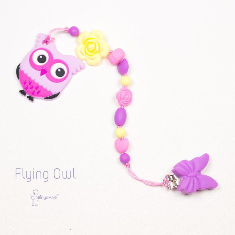 Грызунок из пищевого силикона Flying Owl BABY MILK TEETH