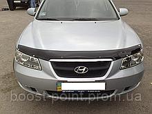 Дефлектор капота (мухобойка) Hyundai sonata nf (хюндай соната нф) 2004-2010