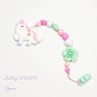 Силиконовая игрушка-грызунок на держателе Juicy Unicorn BABY MILK TEETH