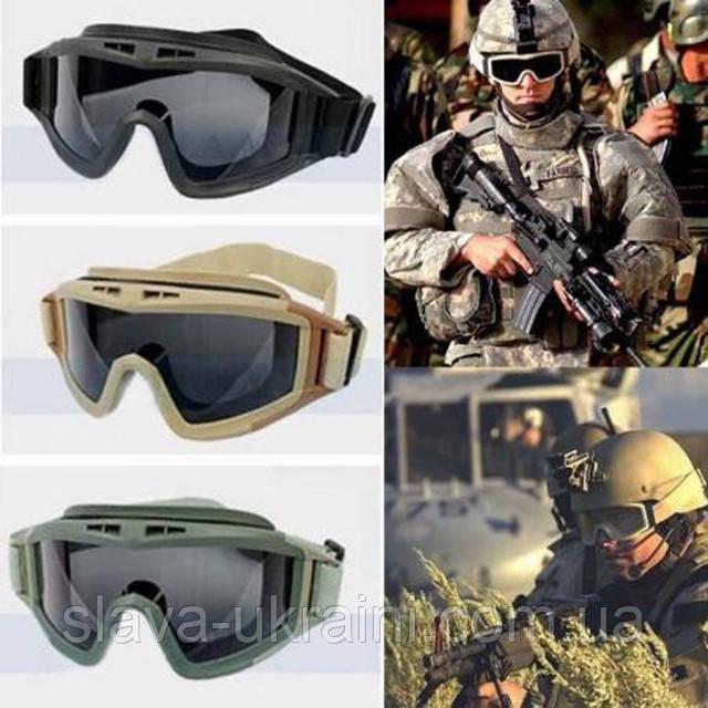 Тактические очки маска Revision Desert Locust баллистические стрелковые военные