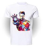 Футболка для девочек размер 152 GeekMand Железный Человек Iron Man рука art IM.01.002