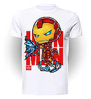 Футболка для девочек размер 152 GeekMand Железный Человек Iron Man art IM.01.001
