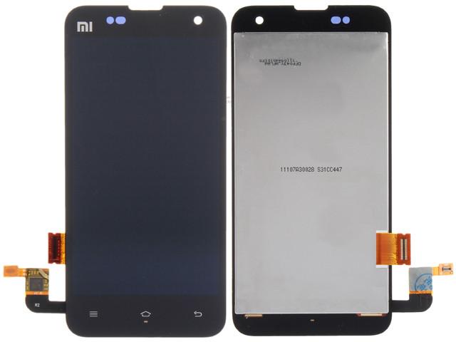 Дисплей для Xiaomi Mi2/Mi2s с тачскрином черный Оригинал