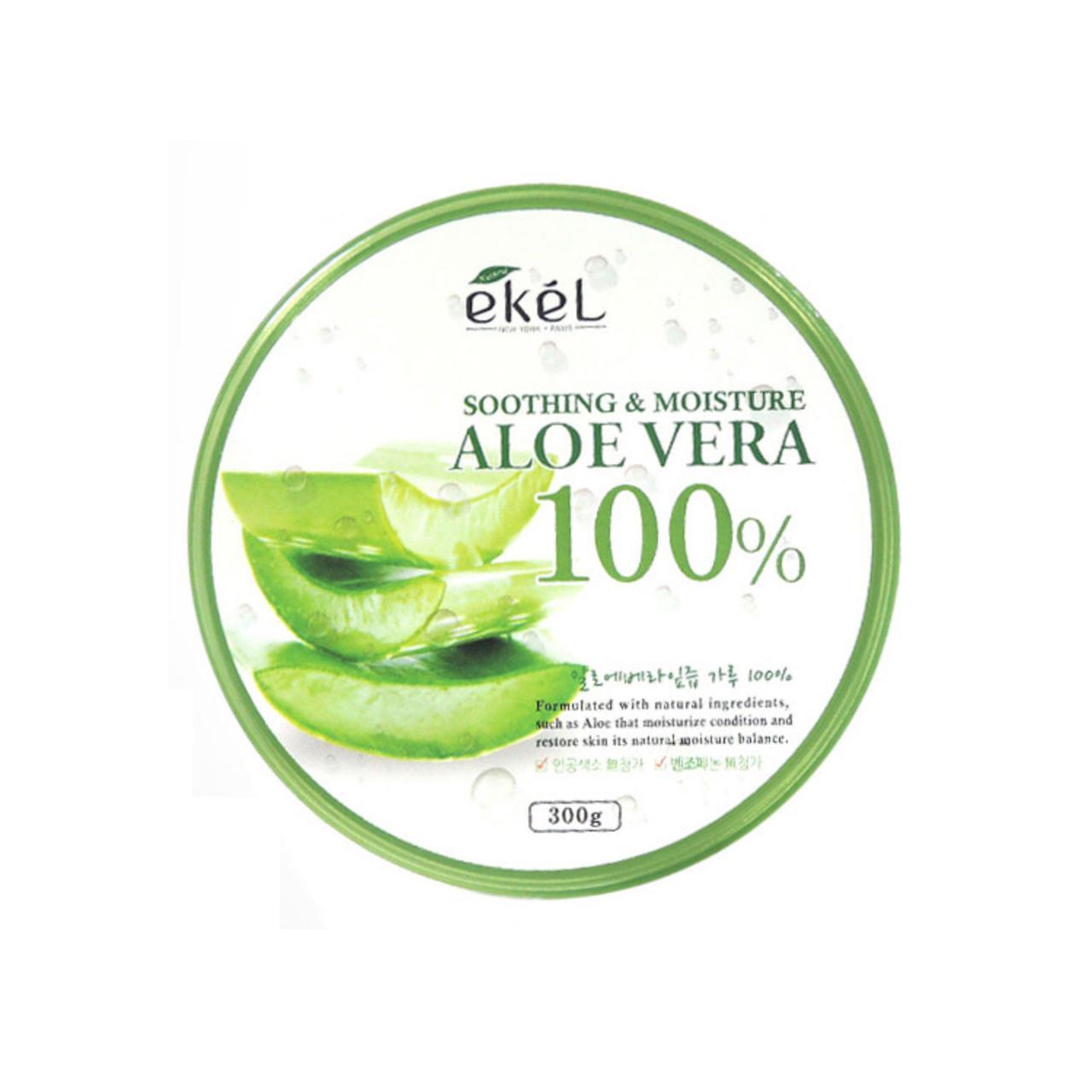Универсальный увлажняющий гель с алое Ekel AloeVera 100% Soothing Gel, 300 мл