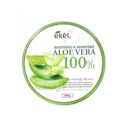 Универсальный увлажняющий гель с алое Ekel AloeVera 100% Soothing Gel, 300 мл, фото 2