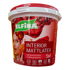 Краска интерьерная для стен и потолков Elfina Interior Mattlatex
