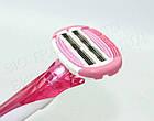 Женский одноразовый станок для бритья Dorco Shai Vanila 3+3 (1 шт) D0032, фото 5