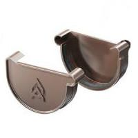 Заглушка желоба ProAqua 125 мм с уплотнителем, цвет коричневый
