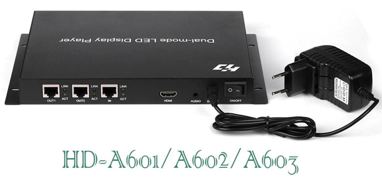 HDплеер 2х-режимный для led дисплея P10, P5, P4, P3 HD-A602